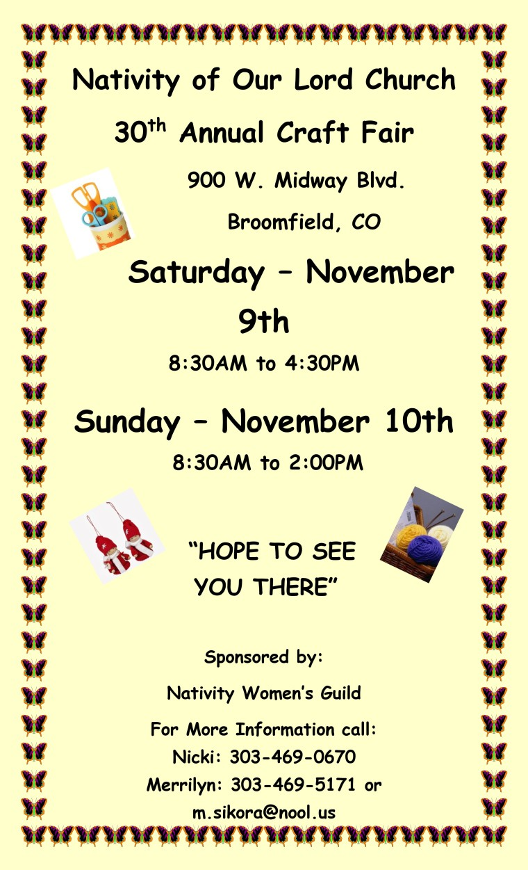 2019 Craft Fair Flyer